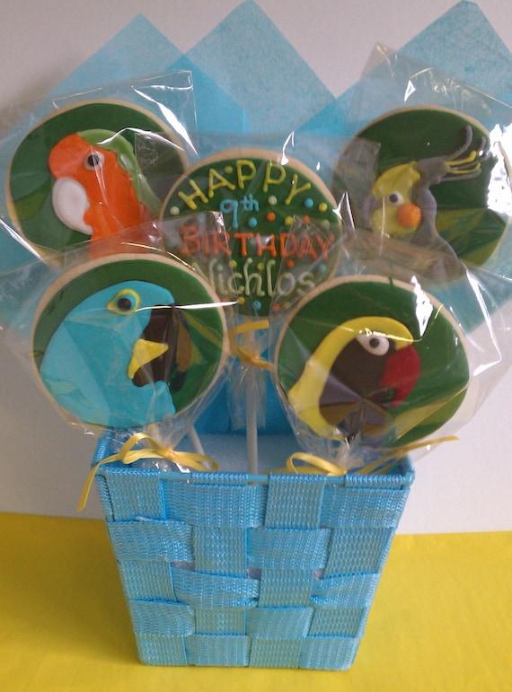 Exotic Bird Cookie Bouquet