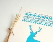 Deer, papercut poster, hand-cut, wall decor, A4