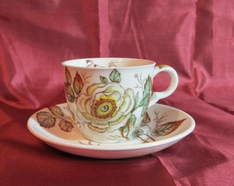 "SALE.   1945 English ""Old Rose"" Demitasse. Housewarming Gift, Wedding Gift, Anniversary Gift, Mother's Day Gift,"