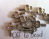 50 x 17mm  silver acrylic key charms /beads