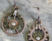 Cog and Wheel Earrings