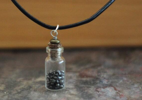 Meteorite Jewelry Necklace - Real Bottled Meteorite