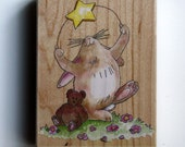 Bunny and Teddy Bear Rubber Stamp by Stamps Happen