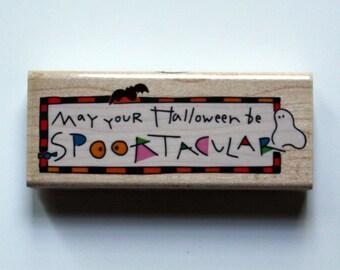 Halloween Spooktacular Rubber Stamp