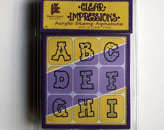 Acrylic Rubber Stamp Alphabet Letters Set, Brand New