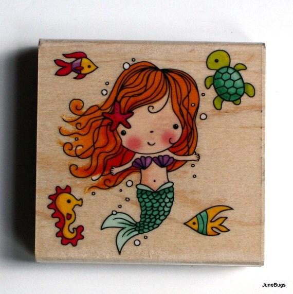 Mermaid Rubber Stamp