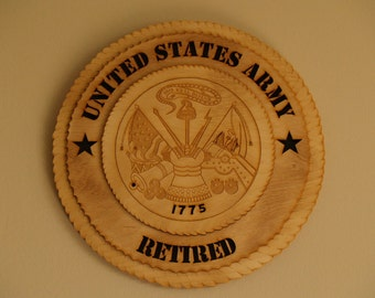 US Army Retired Wall Medallion