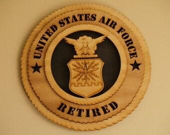 USAF Retired Wall Medallion