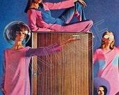 60's Space Age Fashion Ad - Designer John Kloss - 1965 Vintage Fashion Ad -  Mid Century 1960s - Atomic