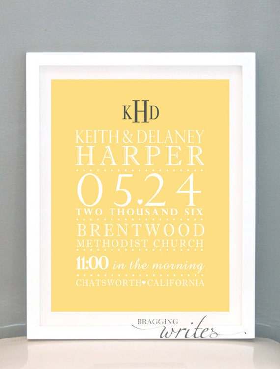 Wall Decoration For Wedding Anniversary : Items similar to custom wedding wall art monogrammed