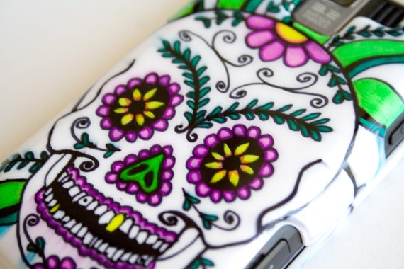 Floral Sugar Skull, Day of the Dead Cell Phone Case Cover LG Optimus