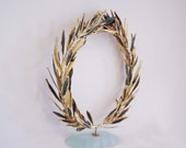 Wreath of gold plated olive leaves - Imissthesea