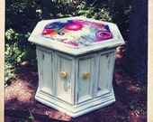 Poppies Hexagon Side Table