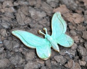 green patina brass butterfly