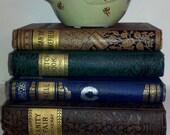 RESERVED FOR EM: Gilded Spine Antique Fiction Books