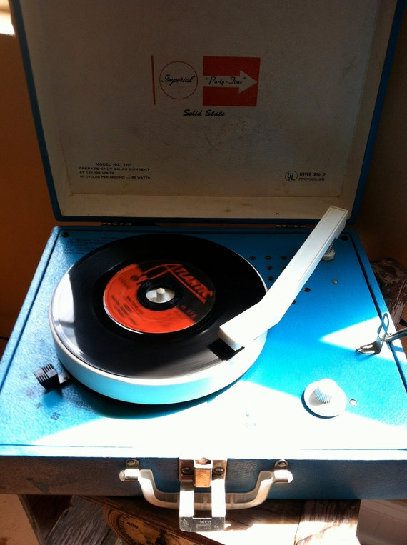 Vintage Record Player - Imperial Solid State - Party Time - Works GREAT
