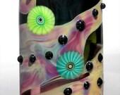 Paint Me Renee Wiggins Design Lampwork Glass Focal Bead