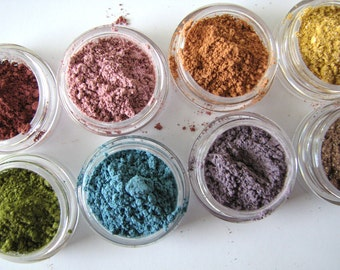 One Sample Size - Mineral Eyeshadow Samples - Choose your color  - Mineral Makeup Samples - Bath and Beauty  - Pure Natural Cosmetics