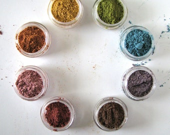 Mineral Makeup Sample  - Mineral Eyeshadow - Choose your colors - Choose ten - Natural eye pigment - bath and beauty - pure natural makeup