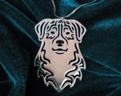 Australian Shepherd jewelry - silver plating, dog jewelry - pendant and necklace
