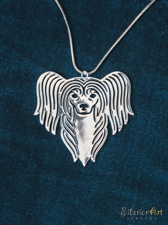 Chinese Crested - silver plating, dog jewelry - pendant and necklace