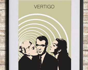 Vertigo Movie Poster Print