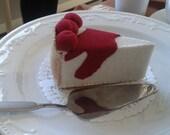Cherry Cheesecake felt play food