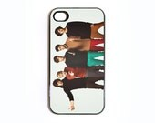 Apple iPhone 4 4G 4S One Direction Tribute  Case Skin Cover Cute Retro Vintage One Direction Available in Black or White Hard Case.