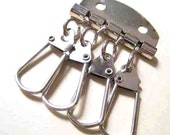 Nickel Metal Key Organizer Key Holder Key Rings (3.5cm x 5cm)