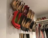Shoe Rack or Shelve Combo Wood Closet Organizer Pair.