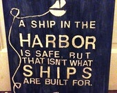 """Subway Sign - Nautical Quote 16"""" x 20"""" Canvas"""