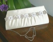 Bridal Clutch with Wonderful Rhinestones
