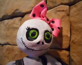 "Art Doll OOAK ""Matilda"" Gothic Weird Zombie Doll Soft Sculpture"