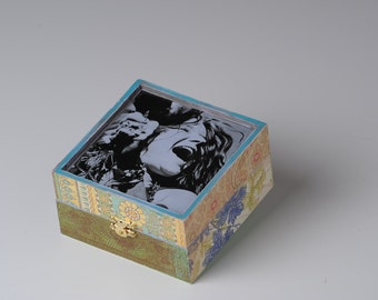 Decorative hand painted box.