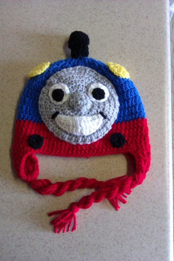 Free Crochet Hat Pattern For Thomas The Train : Items similar to Thomas The Train Hat on Etsy