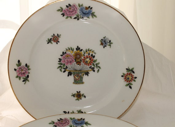 Limoges dessert plates,four dessert plates,wedding decor,bridal shower, French chic,salad plates, set of four
