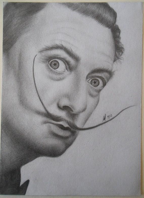 Unframed Original Salvador Dali Pencil Drawing (signed)