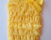 Yellow Lace Petti Romper Birthdays Photos Princess SMALL