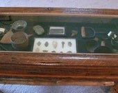 Rustic Barnwood Coffee Table with Display case