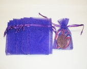 "60 Pieces Organza Bags 3"" x 4"" - Purple"