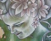 Manifest - Spiritual Art Print of Acrylic Painting 12x12