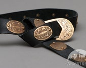 DISCOUNTED PRICE! SALE! Medieval Knot Belt with Etched Brass Accents