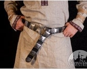 20% DISCOUNT! Medieval Armor Belt with Etched Steel Accents
