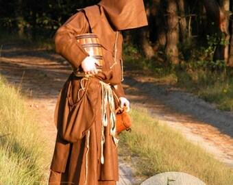 15% DISCOUNT!  Medieval Monk Robe Hood larp costume