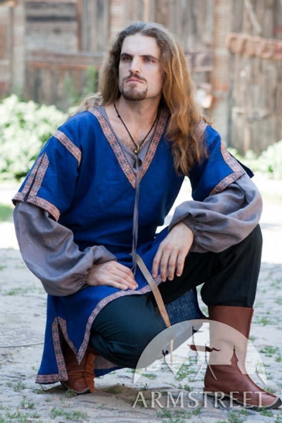 Medieval Short Sleeve Tunic; mens medieval tunic; sca tunic; summer tunic