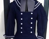 Vintage Dawn Joy navy sailor cosplay pinup nautical dress Sz 8-10