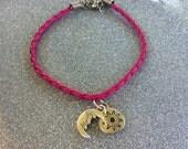 Pink Moon And Sun Charm Bracelet