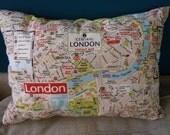 London Map Pillow