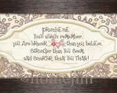 Framed Promise me you will always remember you are smarter braver stronger Winnie the Pooh quote