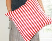 """63% OFF - Red and White Stripe -  Striped 20x20"""" (or smaller) Pillow Cover- Dr. Suess Pillow - The Cat in the Hat - Christmas Throw Pillow"""